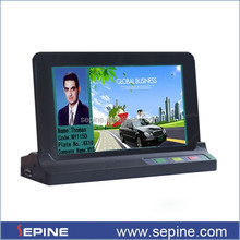 Sepine android car hdd media player ,taxi signage system play driver info