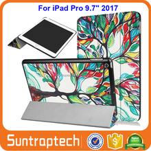 Lovers Eiffel Tower Ultra Slim Tri-Fold Smart Cover Leather Case With Auto Wake Sleep for Apple iPad Pro 9.7 2017 IP972017C02