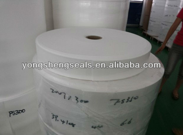 Perforated plastic sheet for foam PE seal liners