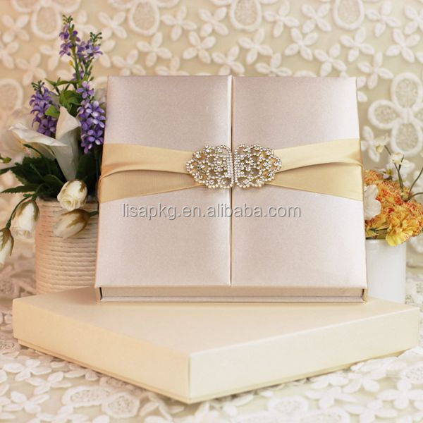 Good quality ivory wedding invitation box envelop inside for Wedding invitation boxes online india