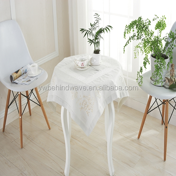 wholesale wedding decoration polyester white round table cloth