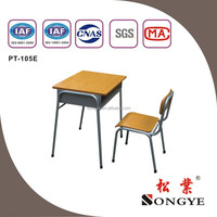 Fixed Single Desk and Chair school furniture desk and chair best funiturePT-105E