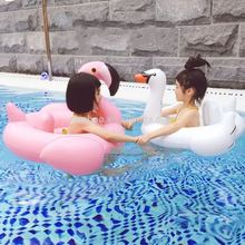 Top selling pvc inflatable swimming pool toy flamingo swan float baby inflatable floating seat