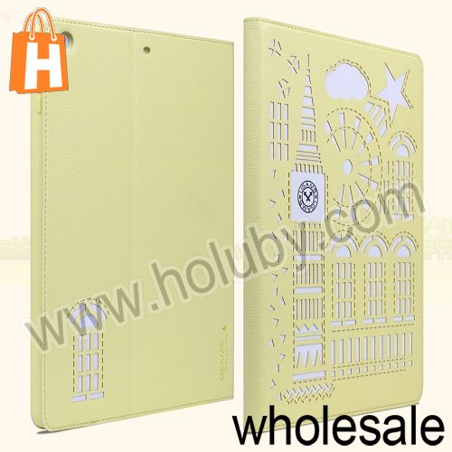 USMS Big Ben Design Wallet Style TPU + Leather Stand Case for iPad Air 5