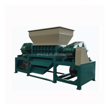 Plastic/wood / bottle recycling machinery double shaft shredder