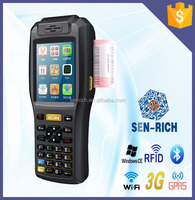 Win CE Handheld Rugged PDA with Mobile Printer,Barcode Scanner,WIFI,RFID Reader