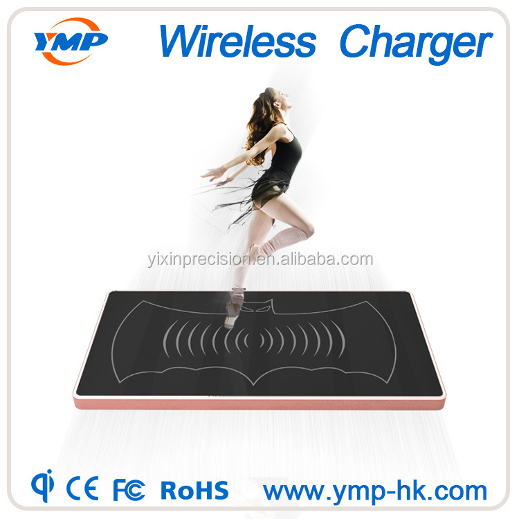 18650 liion battery 3 Coils Qi Wireless Charger Portable Charging Pad used for mobiles phones Samsung Galaxy S6 Note 5 Phone