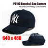 Remote Control Special Features and CMOS Sensor hidden cctv camera, Baseball Cap Camera-PQ105