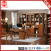 Update factory product oak wood color simple design antique study table for household