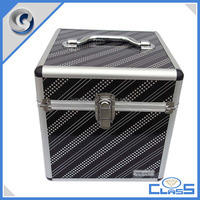 MLD-AB136 Black Simple Empty Cosmetic Beauty Storage Box with Aluminum Frame