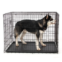 Wire Foldable Pet Crate Dog Cat Iron Cage