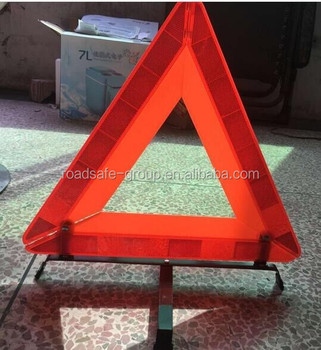 China factory traffic safety car red led warning triangle sign