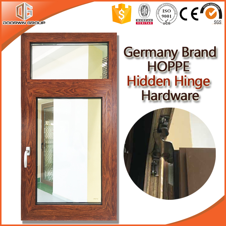 3D Pine/OAK/Teak Wood Grain Finishing Thermal Break Aluminum Tilt and Turn Casement Window made in China with CE for Europe