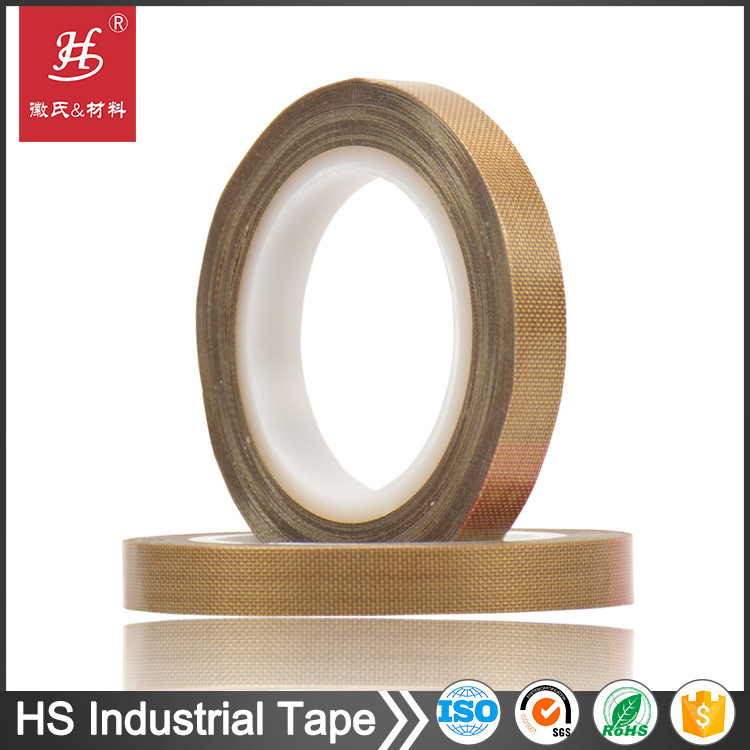 ISO SGS Certified high temperature brown teflon cloth coating adhesive tape