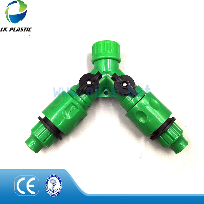 The most popular Y shap tap adaptor for hose irrigation