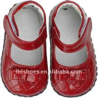 X'mas girls' toddler leather children shoes red LBL-BB11005-RED
