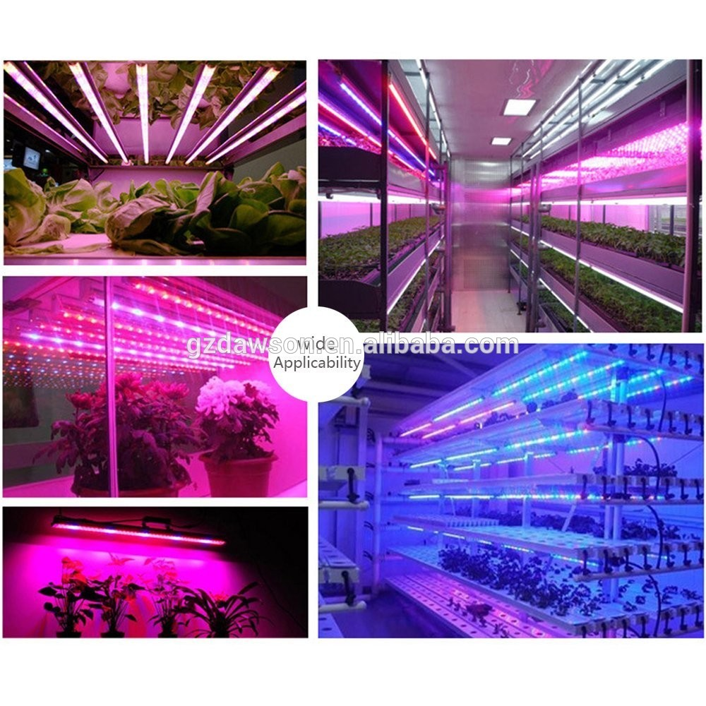 2017 new waterproof full spectrum led grow light bar strips T8 4ft tube for farm greenhouse Hydroponic system