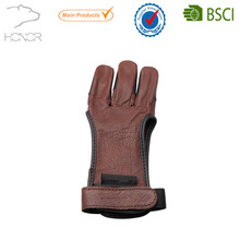 Men's Fashion Leather Gloves Three Fingers Archery Gloves