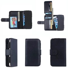 The Classic Black Universal Leather Wallet Phone Case for iPhone 7, Available for 5 inch Smartphone