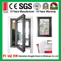 2017 modern design cheap double toughened glass french aluminum window
