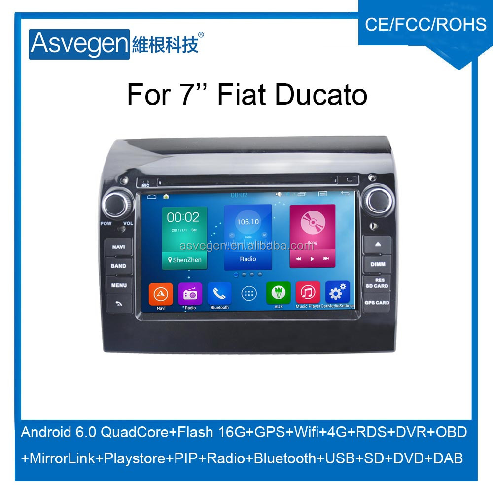 Wholesale Android Car DVD Player For 7'' Fiat Ducato GPS Support Buletooth Radio Wifi Playstore With Auto Spare Parts Car