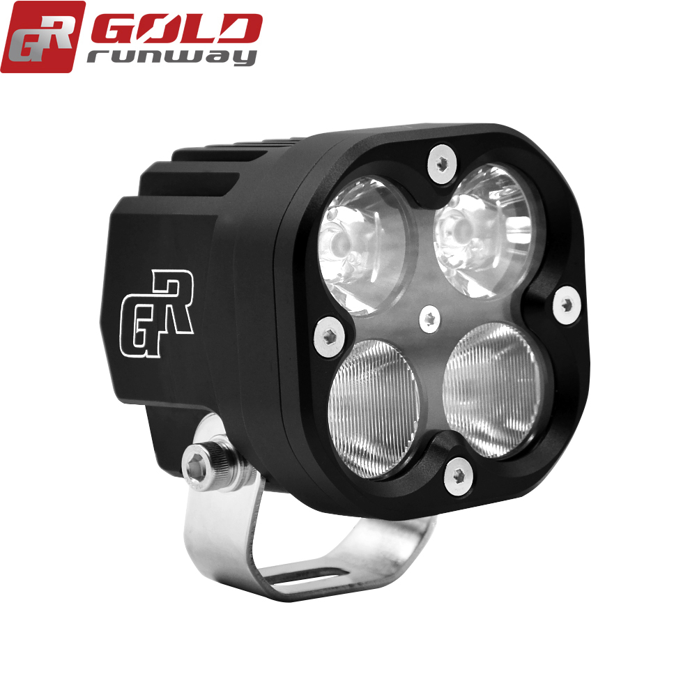 40w square 4 led work light 3 inch Universal Work light for Truck/Tractor/4x4/Off Road/ATV/Vehicle/Bus