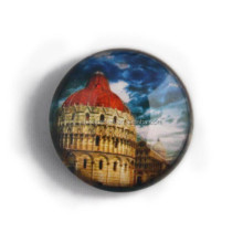 crystal glass italy souvenir fridge magnet