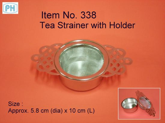 Stainless Steel Mesh Tea Filter Strainer with Holder