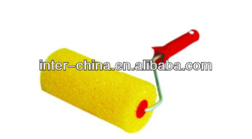 high quality power plastic sponge paint roller brush with the low prices