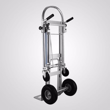VEVOR Folding Hand Truck 3 In 1 Convertible Hand Truck 1000LBS Capacity Hand Truck 2 Wheel Dolly and 4 Wheel Cart With 10""