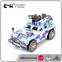Wholesale animal 3d puzzle, plastic puzzle car