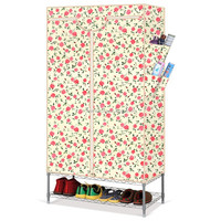 Small stable Oxford cloth portable fabric wardrobe with cover R-100