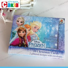 Top selling products 2015 popular 10 christmas cards with frozen heroes elas anna for playing items