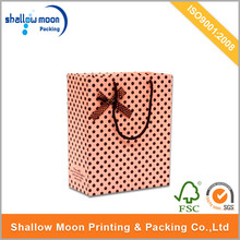 Fashion Promotional gift Paper bag with handle