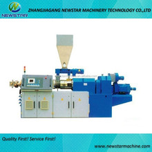 PVC pipes profiles sheets granules twin screw extruder plastic extruder