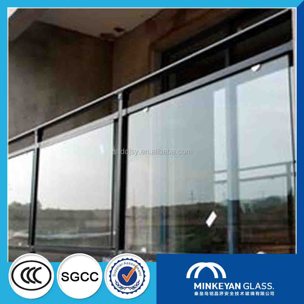 curved 18mm thick ultra clear glass for railing