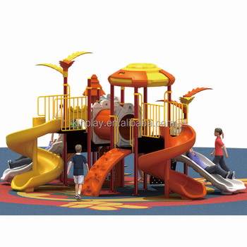 KINPLAY brand factory direct KY02308 kids plastic outdoor play colorful spiral slide