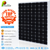 270w 48v Mono solar panel 125*125mm high efficiency best price with CEC/IEC/TUV/ISO/INMETRO/CEC certifications