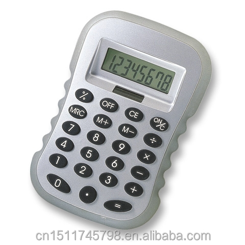 8 digits solar power calculator with plastic film protective frame