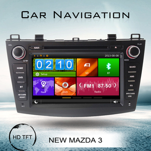 Special 2010 new Mazda 3 car DVD with navigation steering wheel control bluetooth RDS FM