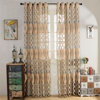 Top finel geometric modern window sheer curtain panels for living room the bedroom kitchen blinds window treatments draperies