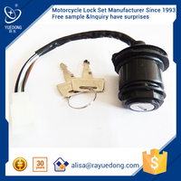 2015 YUEDONG bajaj motorcycles spare parts price CT100 ignition switch,main switch, ignition key switch