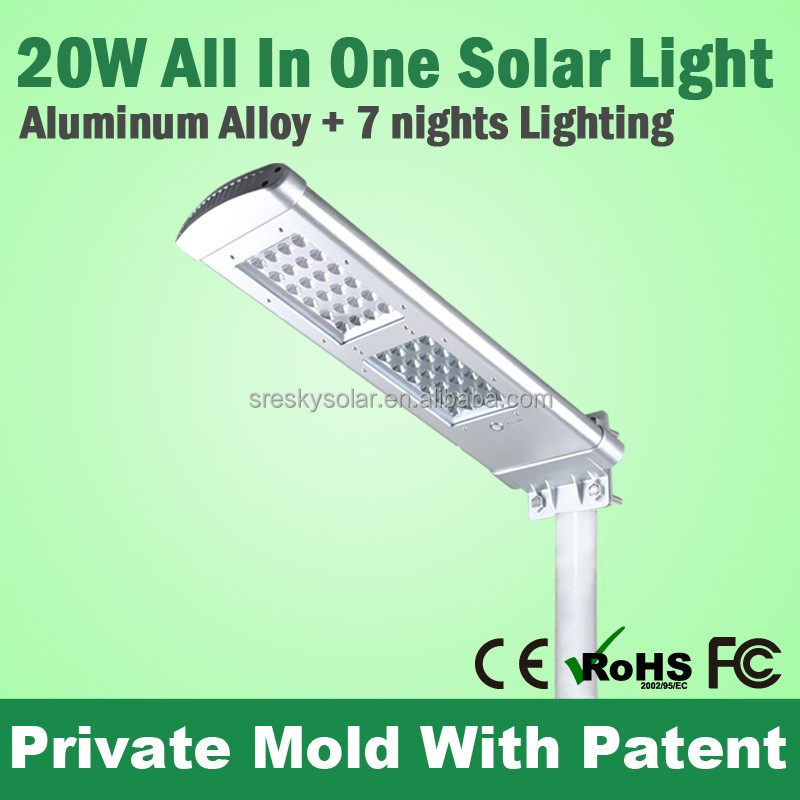 Sky 20W Energy Saving High Power Led Street Light Componets