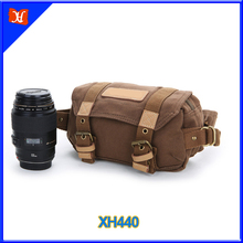 High Quality Luxury Waterproof Canvas Professional DSLR Crossbody Camera Bag