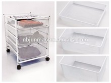 office furniture moving metal wire basket carts with 4 wheels