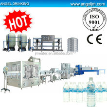 Large scale commercial water desalination machine with filling line