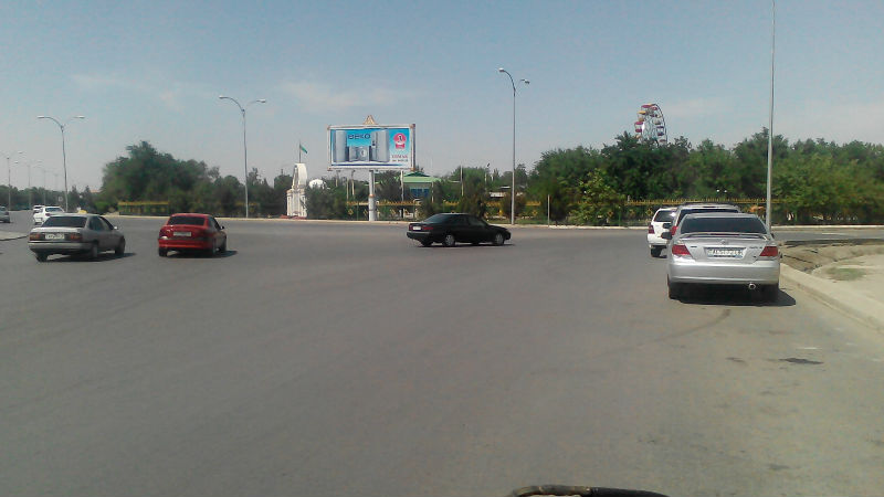 uipole Outdoor Advertising prisma Trivision Billboard at the crossing