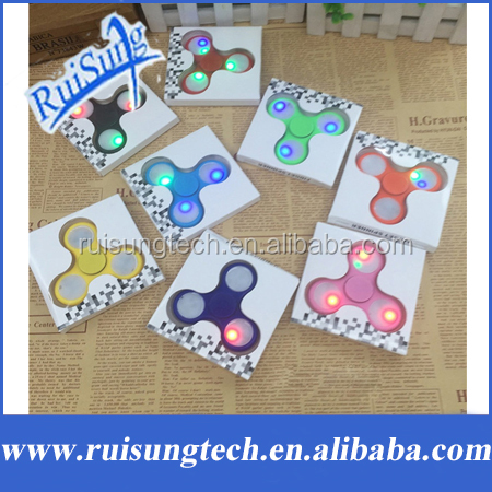 New Colorful light Tri-Spinner LED Fidget Spinner Anti Stress Sensory Hand Spinner Fluorescent Series EDC Toys