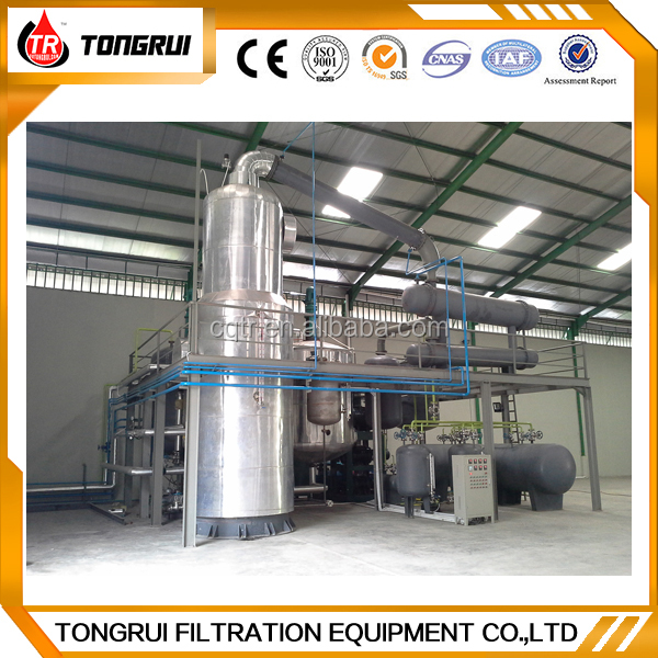 Refinery equipment to recycle black oil to golden base oil distillation machine with CE certificate
