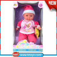 Import mobile toys rabbit priniting on baby clothes children toy fotos mujeres baby doll with rabbit priniting